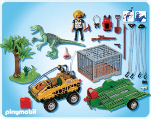 Compare amphibian vehicle with deinonychus vs playmobil - Dinosaur playmobile ...