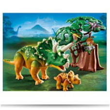 Playmobil Explorer And Triceratops
