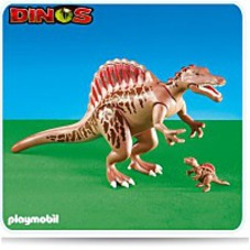 Spinosaurus With Baby