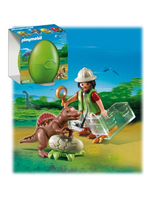 Egg Scientist With Baby Dinosaur